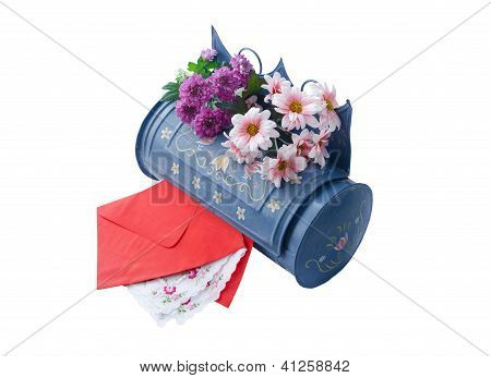 vintage mailbox with red envelopes