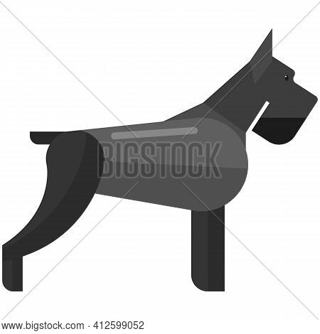 Dog Vector, Giant Schnauzer Isolated Icon Illustration