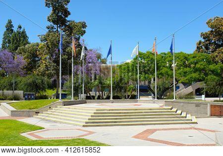 FULLERTON CALIFORNIA - 22 MAY 2020: Becker Amphitheater on the campus of California State University Fullerton, CSUF.