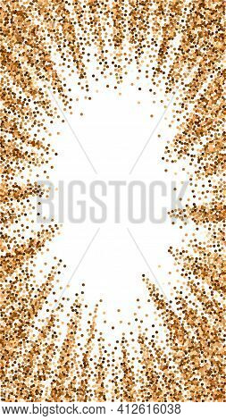 Red Round Gold Glitter Luxury Sparkling Confetti.