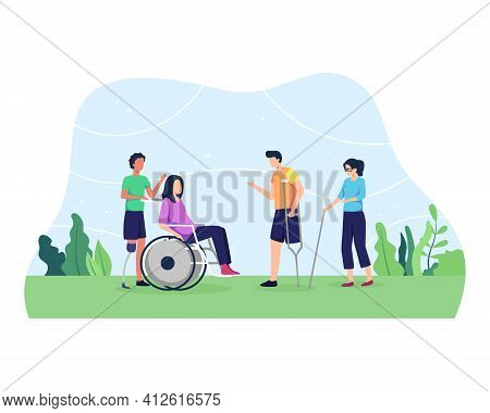 Disabled People Concept