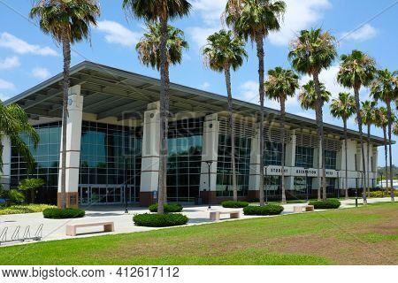 FULLERTON CALIFORNIA - 23 MAY 2020: Student Recreation Center on the campus of California State University Fullerton, CSUF.