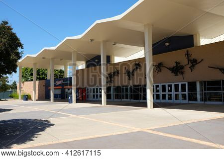 FULLERTON CALIFORNIA - 22 MAY 2020: The Titan Gym on the campus of California State University Fullerton, CSUF.