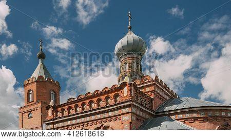 Pirevichi Village, Zhlobin District Of Gomel Region Of Belarus. All Saints Church Is Old Cultural An
