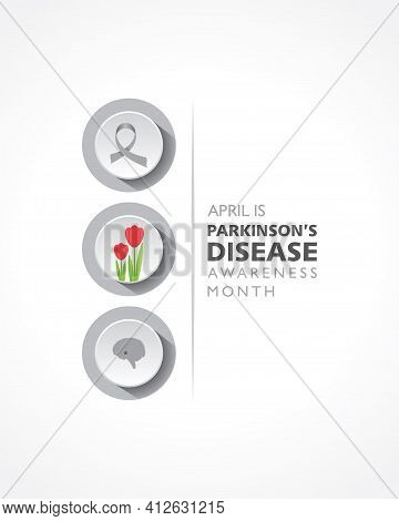 Vector Illustration Of World Parkinson\'s Disease Awareness Month Observed In April Every Year