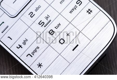 The Photo Shows The Detail Of A Phone