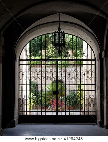 Wrought iron gate, Italian Architecture - Umbria