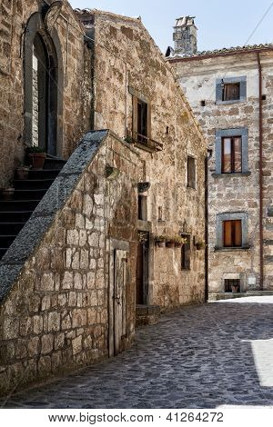 Italian Architecture in Civit� di Bagnoregio - Umbria