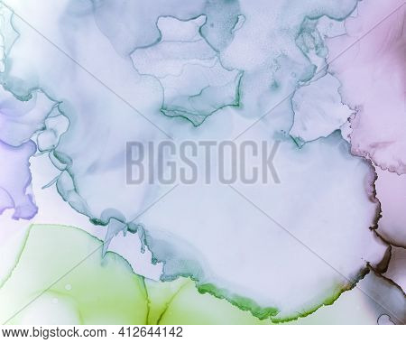 Ethereal Art Pattern. Alcohol Ink Wash Wallpaper. Lilac Creative Stains Splash. Sophisticated Color