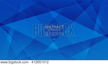 Blue Abstract Background, Polygon Vector Background, Graphic, Minimal Texture, Cover Design, Flyer T