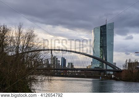European Central Bank And Financial District In Frankfurt - Travel Photography