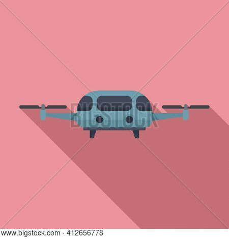 Fly Taxi Icon. Flat Illustration Of Fly Taxi Vector Icon For Web Design