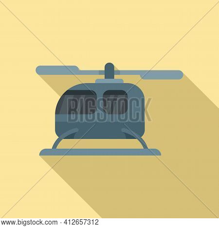City Fly Unmanned Taxi Icon. Flat Illustration Of City Fly Unmanned Taxi Vector Icon For Web Design