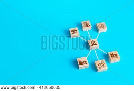 Block Figurine Bank Is Connected With Institutions Establishment And Civil Organizations. The Functi
