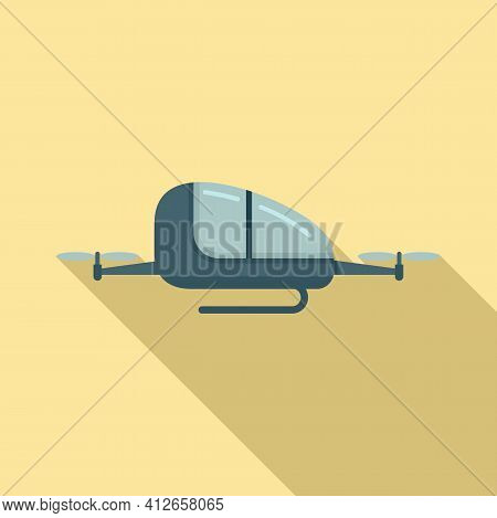 Automated Air Taxi Icon. Flat Illustration Of Automated Air Taxi Vector Icon For Web Design