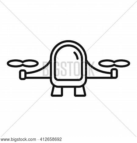 Future Unmanned Taxi Icon. Outline Future Unmanned Taxi Vector Icon For Web Design Isolated On White