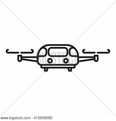 Fly Taxi Icon. Outline Fly Taxi Vector Icon For Web Design Isolated On White Background
