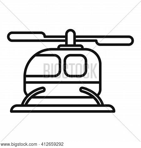 City Fly Unmanned Taxi Icon. Outline City Fly Unmanned Taxi Vector Icon For Web Design Isolated On W