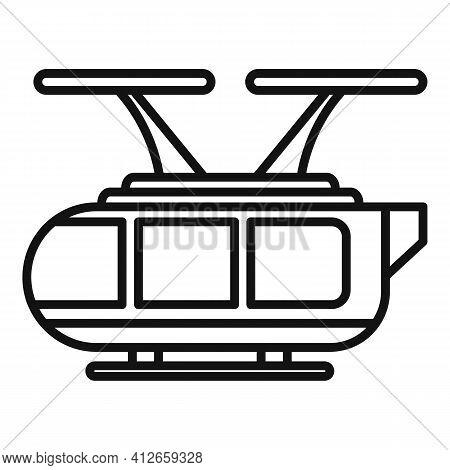 Autonomous Air Taxi Icon. Outline Autonomous Air Taxi Vector Icon For Web Design Isolated On White B