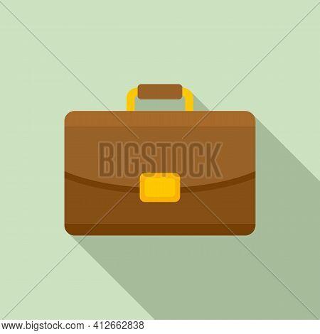 Marketing Briefcase Icon. Flat Illustration Of Marketing Briefcase Vector Icon For Web Design