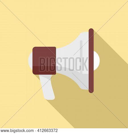 Affiliate Marketing Megaphone Icon. Flat Illustration Of Affiliate Marketing Megaphone Vector Icon F