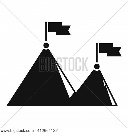 Affiliate Marketing High Target Icon. Simple Illustration Of Affiliate Marketing High Target Vector