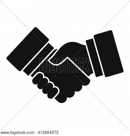 Affiliate Marketing Handshake Icon. Simple Illustration Of Affiliate Marketing Handshake Vector Icon