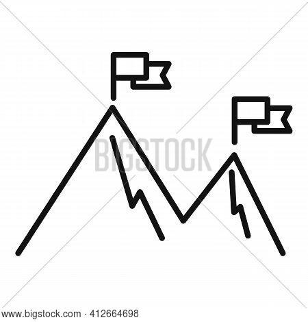 Affiliate Marketing High Target Icon. Outline Affiliate Marketing High Target Vector Icon For Web De