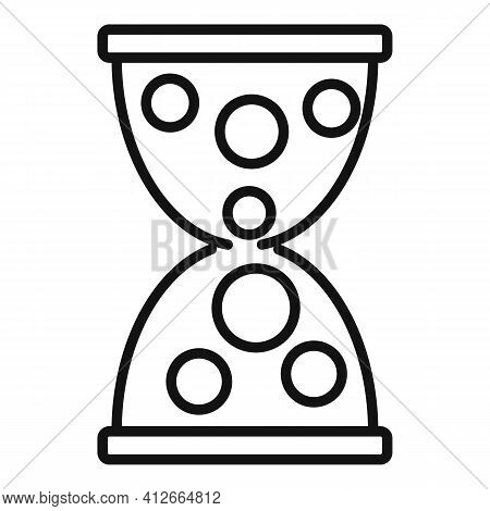 Money Hourglass Icon. Outline Money Hourglass Vector Icon For Web Design Isolated On White Backgroun