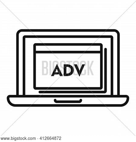 Laptop Affiliate Marketing Icon. Outline Laptop Affiliate Marketing Vector Icon For Web Design Isola