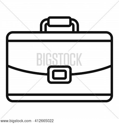 Marketing Briefcase Icon. Outline Marketing Briefcase Vector Icon For Web Design Isolated On White B