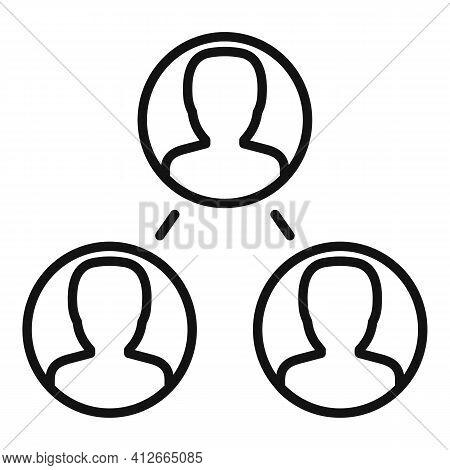Referral Affiliate Marketing Icon. Outline Referral Affiliate Marketing Vector Icon For Web Design I
