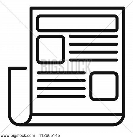 Marketing Doc Icon. Outline Marketing Doc Vector Icon For Web Design Isolated On White Background