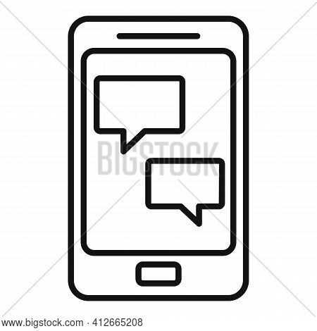 Smartphone Affiliate Marketing Icon. Outline Smartphone Affiliate Marketing Vector Icon For Web Desi