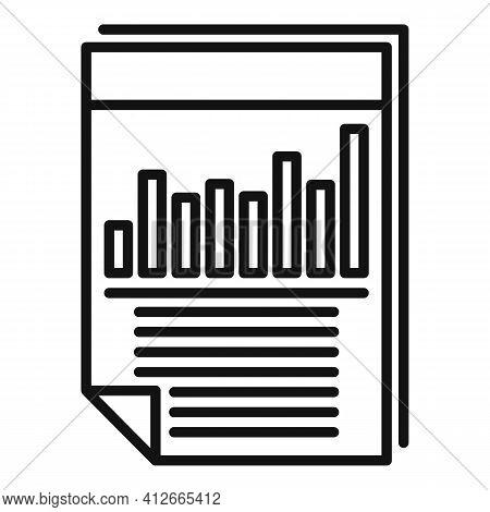 Affiliate Marketing Graph Paper Icon. Outline Affiliate Marketing Graph Paper Vector Icon For Web De