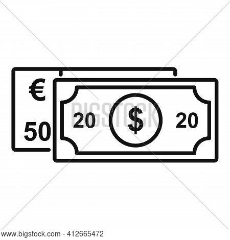 Affiliate Marketing Money Icon. Outline Affiliate Marketing Money Vector Icon For Web Design Isolate
