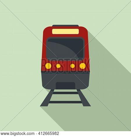 Subway Train Icon. Flat Illustration Of Subway Train Vector Icon For Web Design