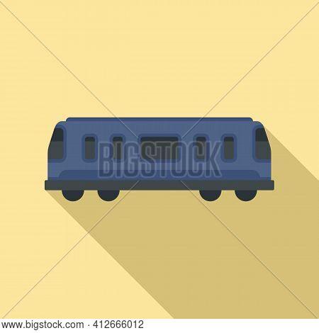 Train Passenger Wagon Icon. Flat Illustration Of Train Passenger Wagon Vector Icon For Web Design