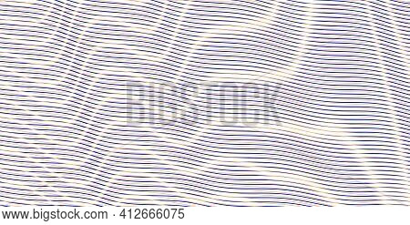 Sensual Abstract Striped Diagonal Gradient Background With Linear Moire Optical Illusion. Calm Beaut