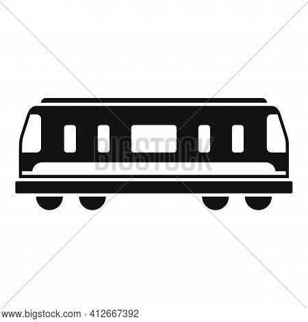 Train Passenger Wagon Icon. Simple Illustration Of Train Passenger Wagon Vector Icon For Web Design