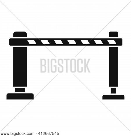 Railroad Barrier Icon. Simple Illustration Of Railroad Barrier Vector Icon For Web Design Isolated O