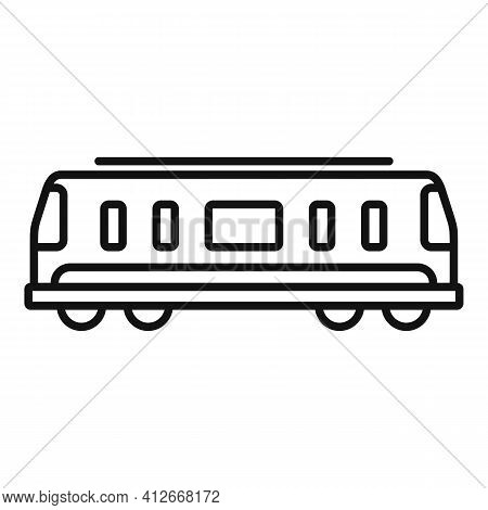 Train Passenger Wagon Icon. Outline Train Passenger Wagon Vector Icon For Web Design Isolated On Whi