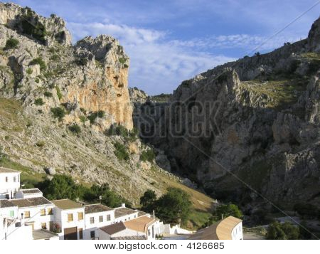 The White Village Of Zuheros At The Foot Of The Sierra SubbéTica
