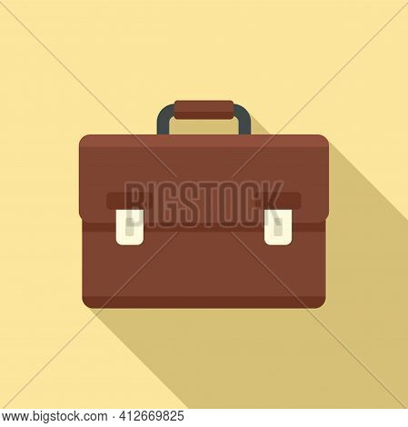 Tax Inspector Briefcase Icon. Flat Illustration Of Tax Inspector Briefcase Vector Icon For Web Desig
