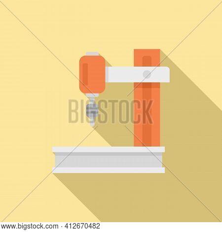 Laser Milling Machine Icon. Flat Illustration Of Laser Milling Machine Vector Icon For Web Design