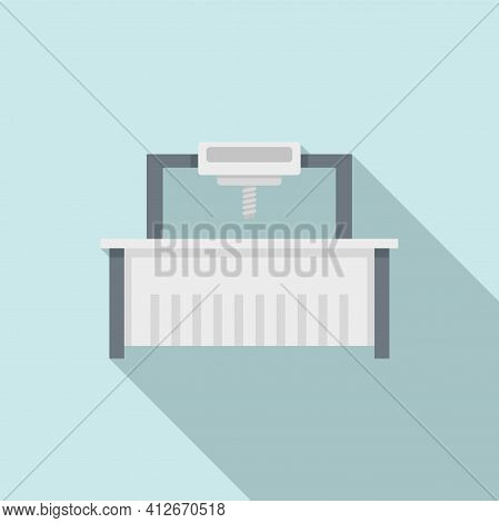 Milling Machine Beam Icon. Flat Illustration Of Milling Machine Beam Vector Icon For Web Design