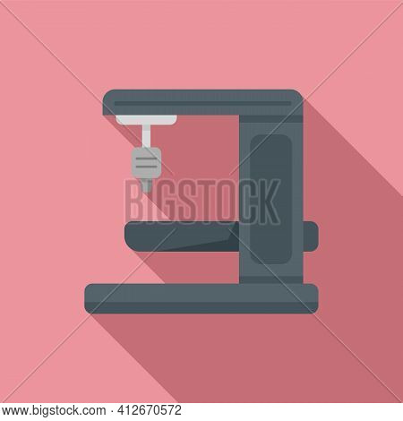 Milling Machine Gear Icon. Flat Illustration Of Milling Machine Gear Vector Icon For Web Design