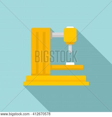 Industrial Milling Machine Icon. Flat Illustration Of Industrial Milling Machine Vector Icon For Web