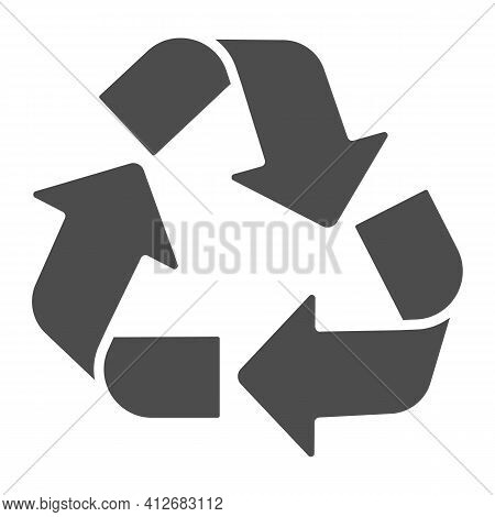 Recycling Of Materials Solid Icon, Electric Car Concept, Reuse, Reduce, Recycle Sign On White Backgr