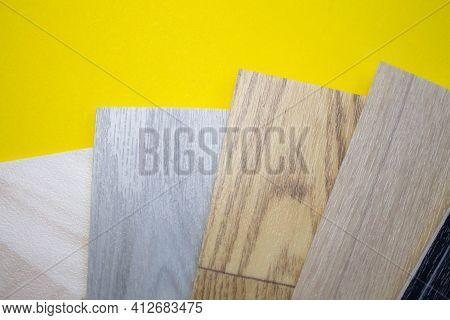Floor Covering - Linoleum. The Floor Covering Is Rolled. Selection Of Samples Of Linoleum In The Sto